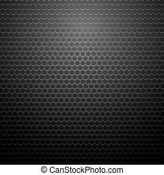 Metallic Perforated Texture. Dark Carbon Pattern