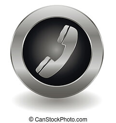 Metallic phone button
