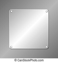 metallic plaque