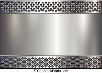 Metallic plate background
