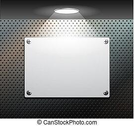 metallic plate