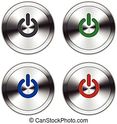 Metallic Power Button