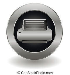 Metallic printer button