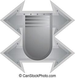 Metallic protector