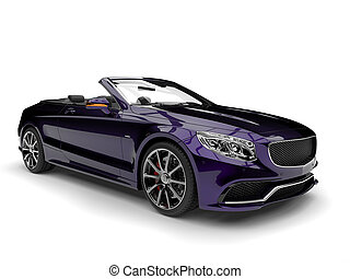 Metallic purple modern luxury convertible car