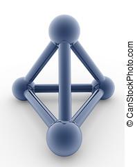 metallic pyramid