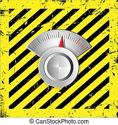 regulator - Metallic radial regulator.Vector illustration....