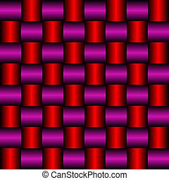 metallic red purple mesh