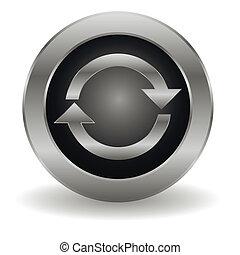 Metallic refresh button