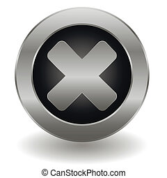 Metallic reject button