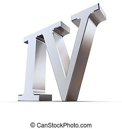 Metallic Roman Numeral 4 - metallic roman numeral IV - shiny...