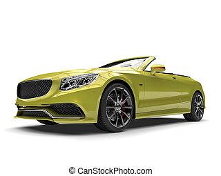 Metallic sheen green modern luxury convertible car