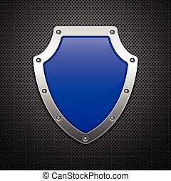 Metallic shield. Vector illustration. Eps10