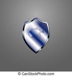 Metallic shield