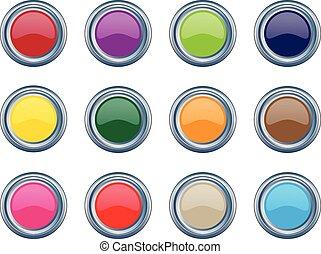 metallic shiny buttons