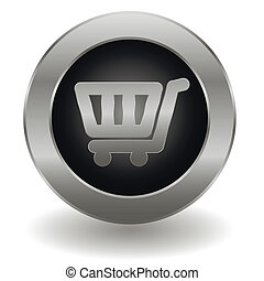 Metallic shopping cart button