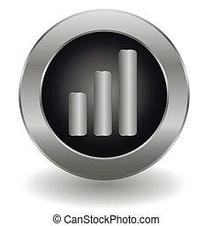 Metallic signal button