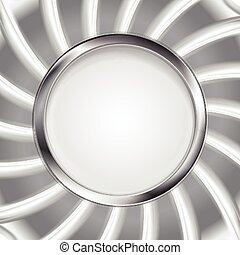 Metallic silver logo background
