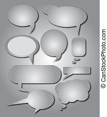 Metallic speech bubble