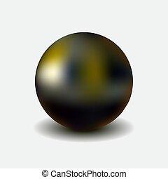 Metallic sphere, realistic vector illustration