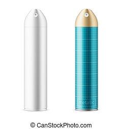 Metallic sprayer can template.