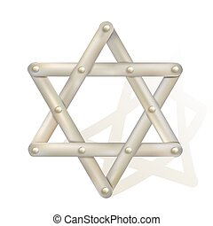 metallic star of David as symbol of judaism