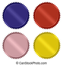 Metallic Starburst Special Labels - Colorful metallic...