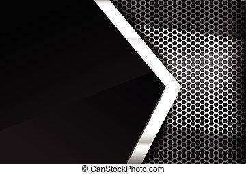 Metallic steel and honeycomb element background texture 005