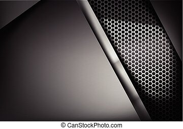 Metallic steel and honeycomb element background texture 006
