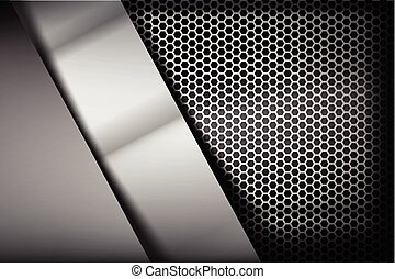 Metallic steel and honeycomb element background texture 007