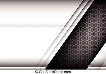 Metallic steel and honeycomb element background texture