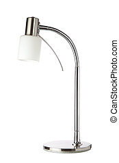 Metallic Table Lamp. On a white background.