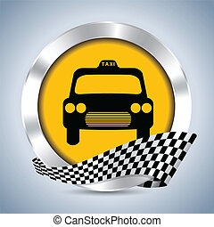 Metallic taxi badge design