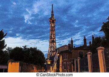 Metallic tower of Fourviere in Lyon