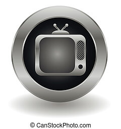 Metallic tv button