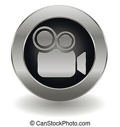 Metallic video camera button