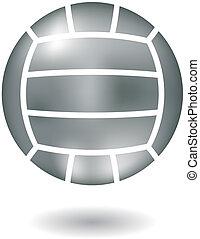 Metallic volleyball - Glossy line art metallic volleyball...