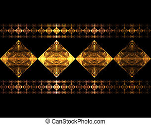 Metallica Diamonds - fractal rendering of metallic diamond...