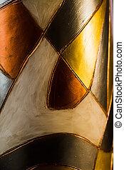 metallico, astratto, figure
