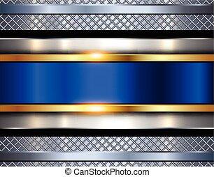 metallico, baluginante, metallo, fondo, struttura