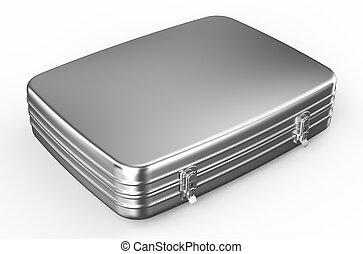 metallico, o, cartella, valigia