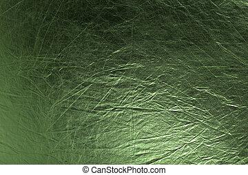 metallico, sfondo verde