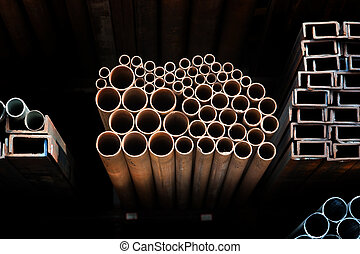metallico, tubi per condutture