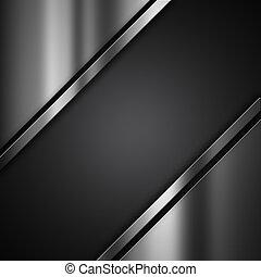 metallisk, grunge, baggrund