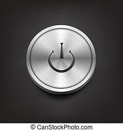 metallo, bottone potere
