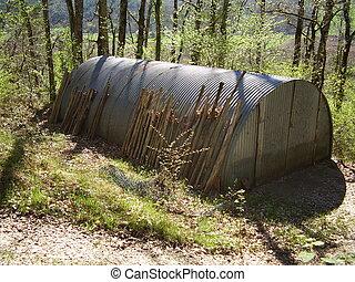 metallo, capannone, piantoni, recinto