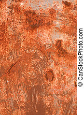 metallo, colori, struttura, fondo., arrugginito, arancia