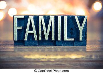 metallo, concetto, tipo, famiglia, letterpress