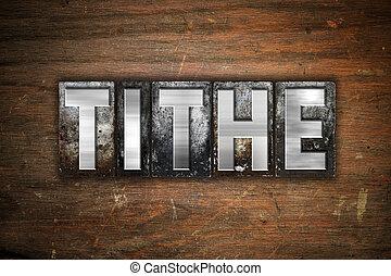 metallo, decima, concetto, tipo, letterpress