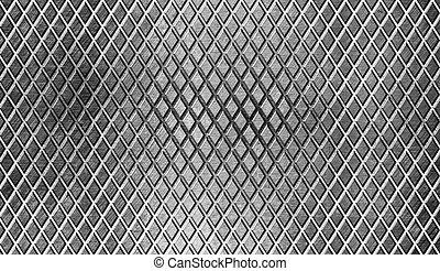 metallo, diamante, fondo, industriale, pavimento